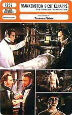 FICHE CINEMA Frankenstein s'est échappé/The curse of Frankenstein Terence Fisher