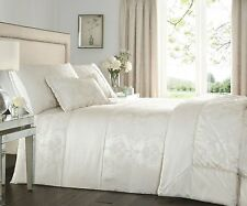 KATHERINE IVORY LUXURY QUILTED BEDSPREAD THROW OVER 200cm x 230cm POLYESTER