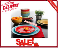 Better Homes and Gardens Festival Dishes Dinnerware Set Assorted Colors 12-Piece