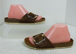 BIRKENSTOCK Madrid Big Buckle Oiled Leather Sandals Womens US Sz 8.5 EUR 39 VGUC