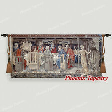 """William Morris Holy Grail Tapestry - Knights of the Round Table, 54""""x25"""", UK"""