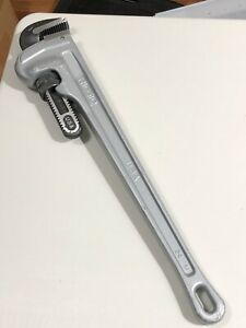 "Ridgid  24"" Aluminum Adjustable Pipe Wrench Made In USA"