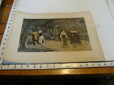 vintage Tipped in print on board: MEETING OF FAUST & MARGUERITE
