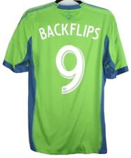 "RARE Adidas Seattle Sounders 2013 Jersey Sz M #9 Obafemi Martins ""Backflips"""