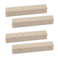4Pcs 48mm Plastic 6 String Slotted Classical Guitar Neck Nut Guitar Parts