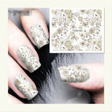 Charm Yellow Flower Water Transfer Nail Art Stickers Decals DIY Manicure YZW163