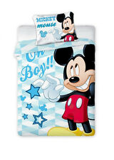 Disney Mickey Mouse Oh Boy Baby Toddler Bedding Set 100 Cotton Cot Cotbed