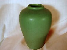 Early Muncie Matte Green Arts Crafts 7in Vase, Excellent Condition Marked MUNCIE
