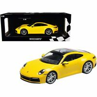 Minichamps 2019 Porsche 911 Carrera 4S Yellow Limited Edition to 336 pieces W...