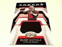 Baker Mayfield 2019 Panini Certified Gold Superb Player Worn Jersey #/299 Browns