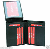 Mens Leather Wallet Purse RFID SAFE Contactless Card Blocking ID Protection #55