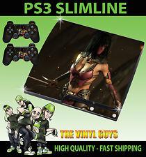 Playstation Ps3 Slim Pegatina De Mileena De Mortal Kombat X Hielo Ninja Skin & Pad Skins
