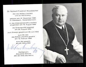Norbert Mussbacher 1926-2004 Abt von Lilienfeld Original Signiert # BC 181462