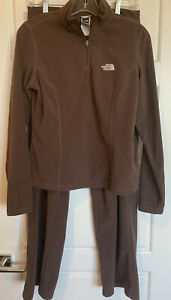 North Face Womens Brown 2 Piece Tracksuit Loungewear Size Small SOFT!
