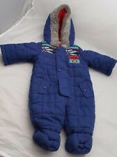 BHS DISNEY BABY TIGGER DARK BLUE PRAM SNOW ALL-IN-ONE SUIT AGE 0-3 MONTHS 62cm
