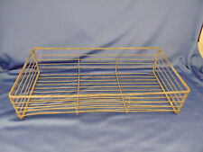 Basket metal rectangle wire office in out box industrial decor