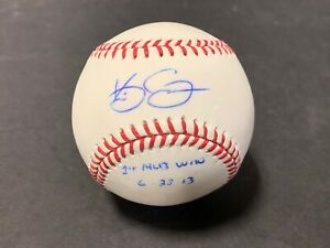 Kevin Gausman Giants Orioles Signed Baseball 1st Win 6-28-13 Imperfect