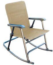Elite Folding Rocking Chair Outdoor Lawn & Garden Patio Deck Rocker - Beige!