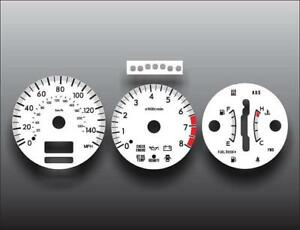 Fits 2004 Subaru Forester XT Turbo Dash Instrument Cluster White Face Gauges