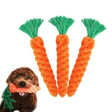 Chew Toys Braided Cotton Rope Carrot Durable Dog Teeth Cleaning For Pet Bite Toy