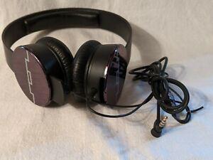 SOL REPUBLIC HEADPHONES & CORD OVER EAR BLACK