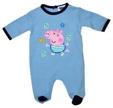 Boys Romper Outfit Suit Baby Peppa Pig George Pig All in One 1 to 9 Months Sky Blue 3 Months