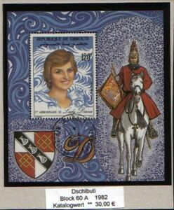 0675/ Dschibuti Block 60 A gestempelt Lady Diana
