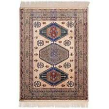 New Italtex Rugs Chiraz Art Silk Rug 100cm x 137cm Floor Carpet Mat Beige 9379-4