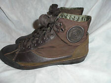 KENNETH COLE  MEN'S BROWN LEATHER/TEXTILE LACE UP BOOT SIZE UK 10 EU 44 US 11 M