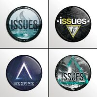 "4-Piece ISSUES  1"" Band Pinback Buttons / Pins / Badges Set"