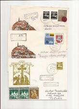 LITHUANIA-6 registered covers to Poland & internal