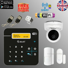 Wireless Security GSM WiFi Autodial Smart Home Burglar Alarm HD IP Camera System
