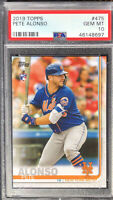 2019 Topps Pete Alonso #475 Rookie RC PSA 10 Gem Mint Invest ROY MVP Hot