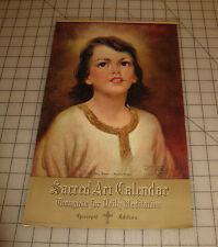 "1956 SACRED ART Messenger CALENDAR ""Episcopal Edition"" in VG+ Condition Nice Art"