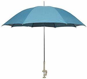 Clip On Umbrella Screw Clamp Garden Balcony Beach Parasol UV Sun Shade Blue