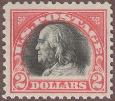 Us Scott #523 1918 $2 Benjamin Franklin, Mint Nh