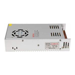 AC 110-240V to DC 12V 30A 360W Voltage Transformer Switch Power Supply LED Strip