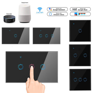 Home WIFI Smart Wall Switch Touch Glass Panel APP RC For Echo/Alexa/Google IFTTT