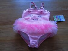 Size 18 Months Healthtex Pink Kitty Cat Kitten One-Piece Swimsuit Swim Suit New