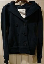 NWOT American Eagle Outfitters Navy faux fur hooded jacket size XS