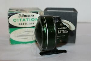 Vintage Fishing Reel, Johnson Citation 110B, With Instructions and Box