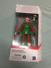star wars black series 6?  Holiday Snowtrooper Nice Sealed box ?
