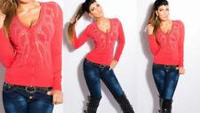 Koucla V-Neck Regular Size Jumpers & Cardigans for Women