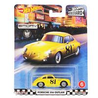 HOT WHEELS Porsche 356A Outlaw Yellow Car Premium Boulevard 356 Emory 2020