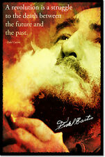 FIDEL CASTRO ART PHOTO POSTER GIFT QUOTE CUBA COMMUNISM
