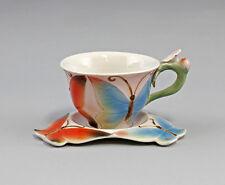 9952073 Porzellan Tasse mit Untertasse Schmetterling Jameson&Tailor H8,5cm