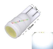 T10 501 W5W 1W LED Ceramic Shell White HID Interior Sidelight Light Lamp Bulb