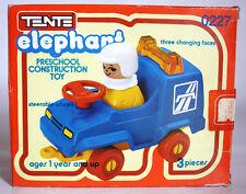 RARE VINTAGE 80'S TENTE ELEPHANT 0227 BLUE CAR CONSTRUCTION TOY EXIN SPAIN NEW !