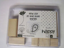 Brand New! STAMPIN UP Polka Dots & Paisley Rubber Stamp Set