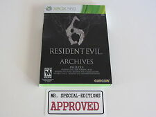 Resident Evil 6 Archives (Xbox 360, 2012) BRAND NEW SEALED